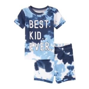 NWT Tie Dye Snug Fit Cotton Pajamas - for baby and toddler   Blue